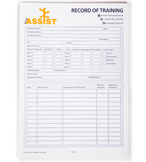 Record of Workplace Training Pads -45