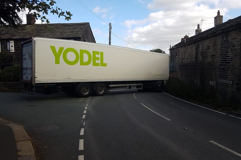 Yodel LGV Crashes Into House After Driver Uses Weight Restricted Road