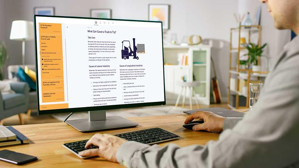 MHE elearning - online forklift training